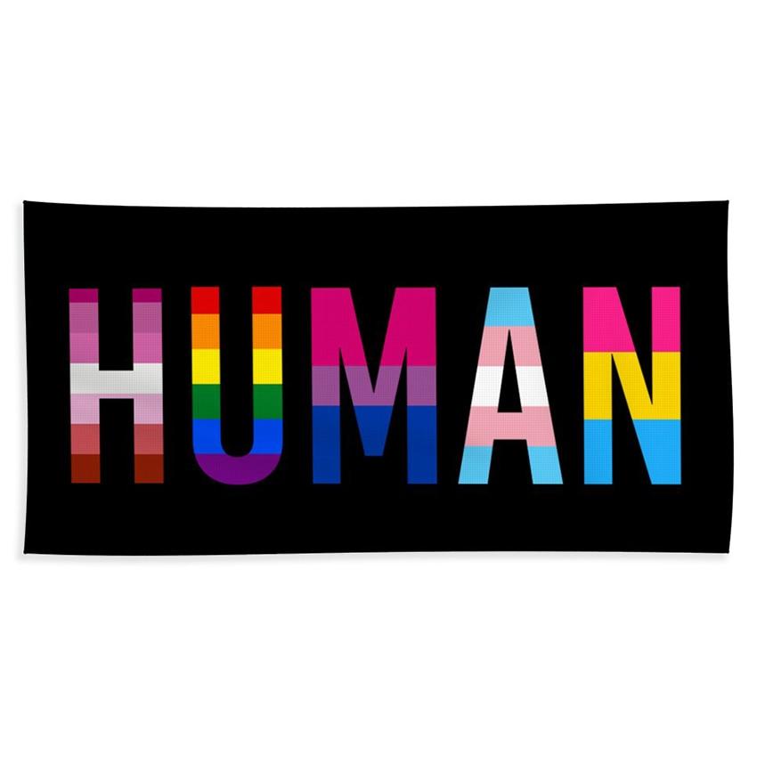 Xiangying 90x150cm human LGBT pride Flag