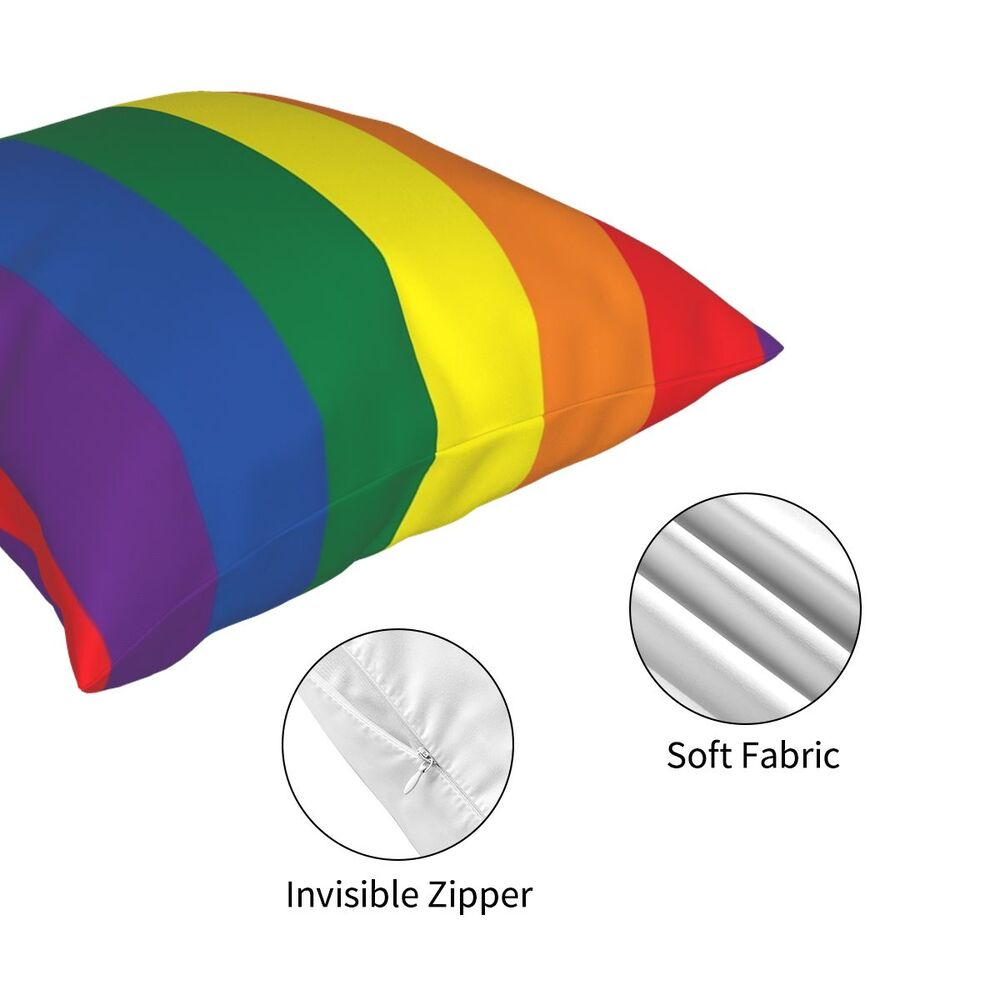 LGBT Rainbow Pillowcover Home Decor Gay Lesbian Lgbtq Sexual Cushion Cover Throw Pillow for Living Room Double-sided Printing