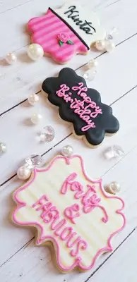 Assorted birthday cookies for 40th birthday