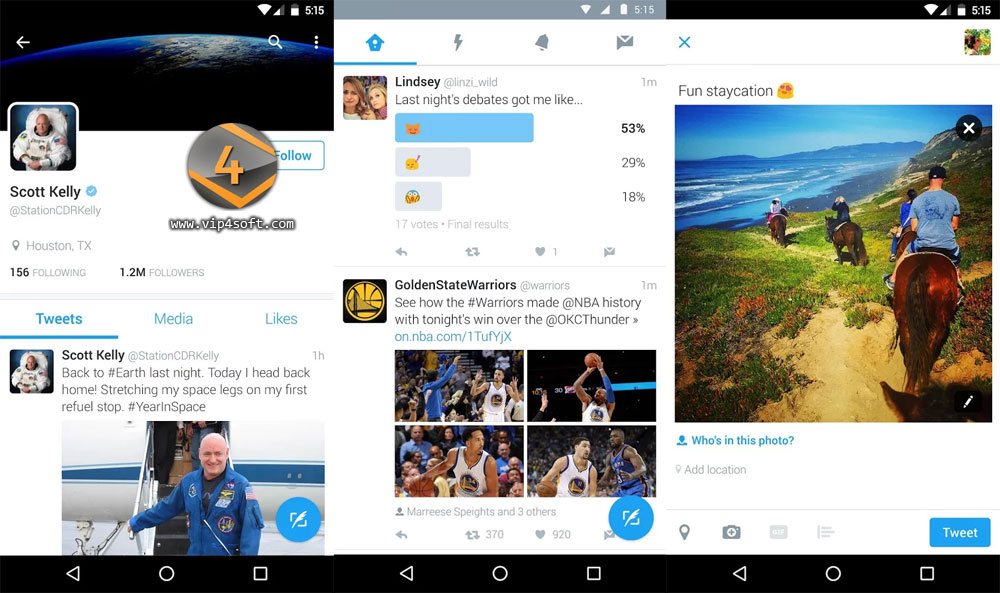 تطبيق تويتر Twitter لأجهزة أندرويد