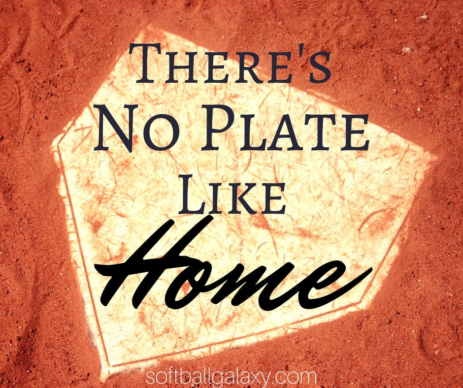 There's No Plate Like Home Softball Meme