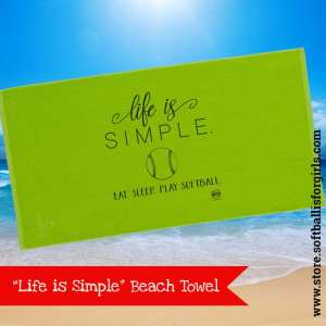 Softball beach towel