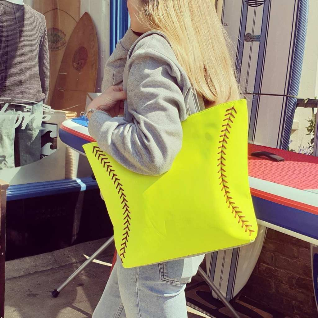 Super cool, softball leather tote bags and purses! Check them out at  https://www.zumersport.com/collections/softballisforgirls