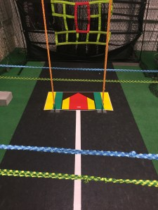Practice space with accuracy ropes