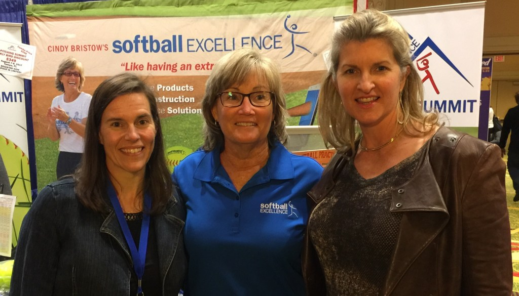 Us (Jackie Magill on left, Rita Lynn Gilman on right) with Cindy Bristow (middle) at the 2016 NFCA Conference