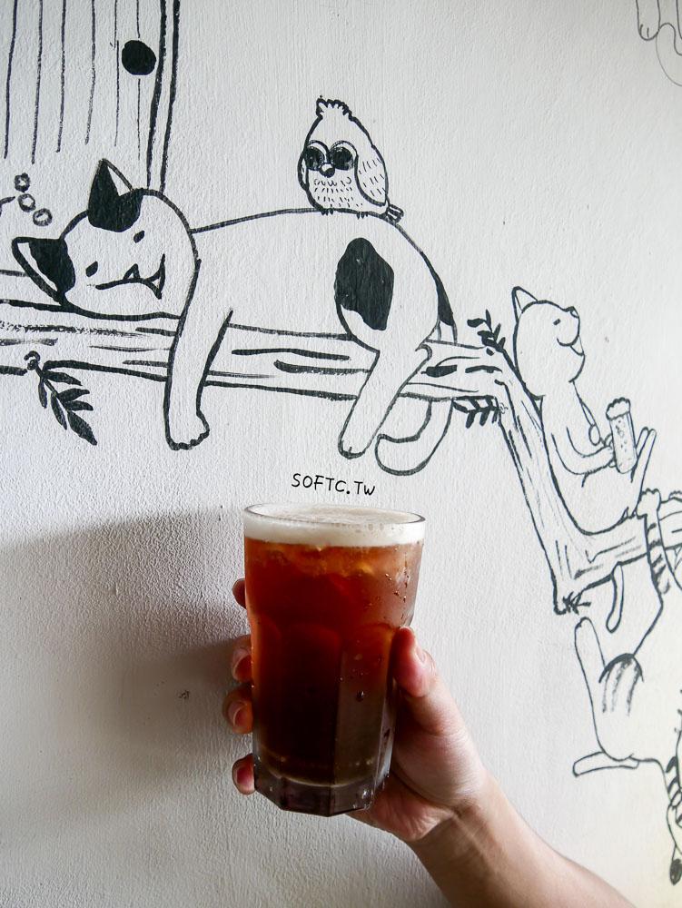 蘭嶼東清部落美食推薦》人魚和貓●來一杯米酒奶茶配成群貓咪! 蘭嶼東清部落悠閒吃飯簡餐美食推薦