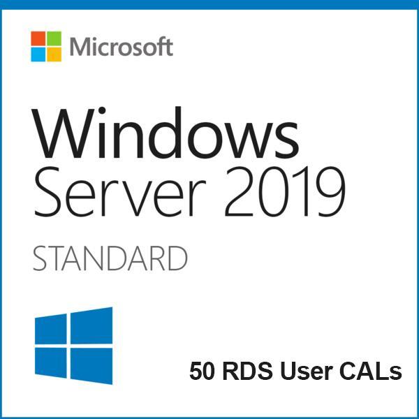 Buy Windows Server 2019 Standard + 50 RDS User Cals | Soft Deal USA
