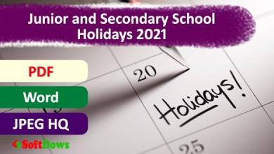 List of Junior and Secondary School Holidays 2021 in Bangladesh