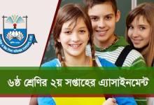 Class 6 Assignment 2nd Week English, Bangladesh & Global Studies