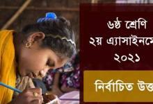 Class 6 2nd Assignment Answer 2021 English, Bangla & Biswa