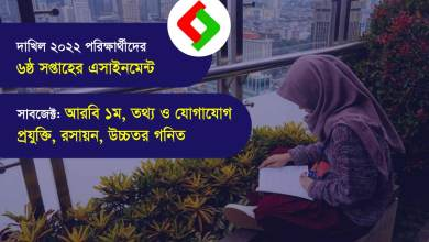 dakhil 6th week assignment