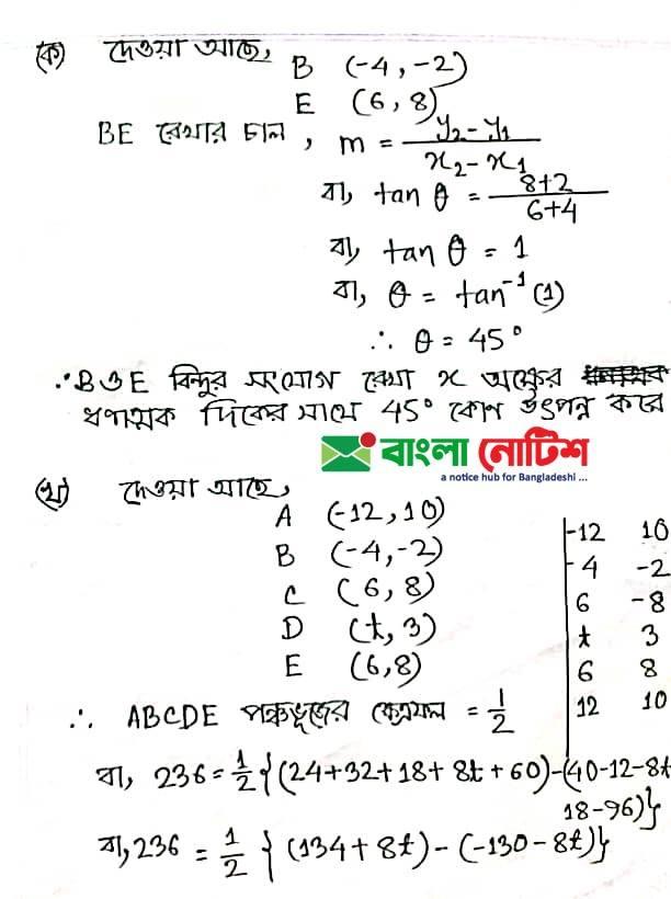 SSC Higher Math Assignment 2021 Answer