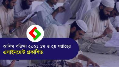 HSC Alim Assignment 2021 published