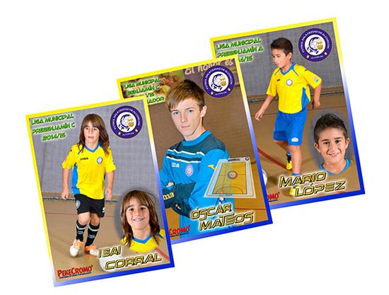 Dentro de nuestro departamento de Merchandising deportivo realizamos el diseño de cromos por equipos para el FSCA.