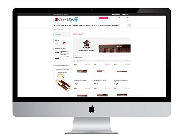 Dentro de nuestros éxitos de trabajos realizados en diseño y creación de tiendas online Alcorcón os mostramos la tienda de careybadi.com.