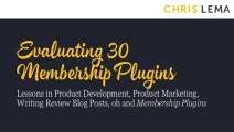 30 WordPress Membership Plugins (Video)