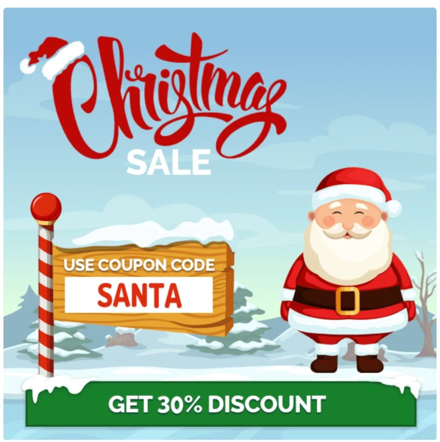 S2 Members 30% off Christmas coupon code SANTA