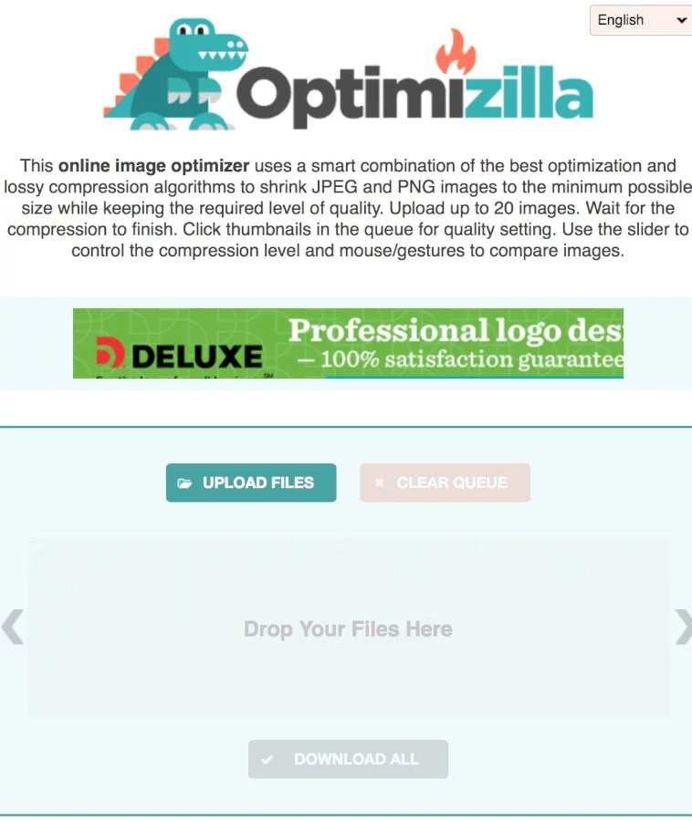 Optimizilla batch file resize images-min