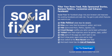 Social Fixer add on – Free Filter for Facebook