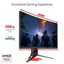 "ASUS ROG Strix XG27VQ 27""  Curved FHD (144Hz+1ms+RGB) Eye Care Gaming Monitor"