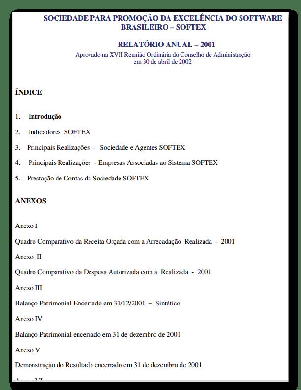 Relatório Anual 2001