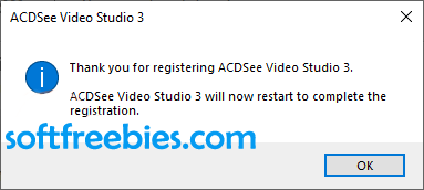 ACDSee Video Studio Successful Activation