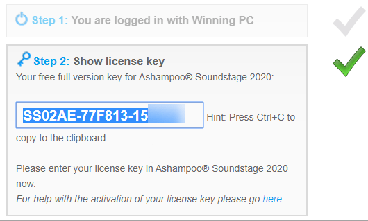 Ashampoo Soundstage License Code