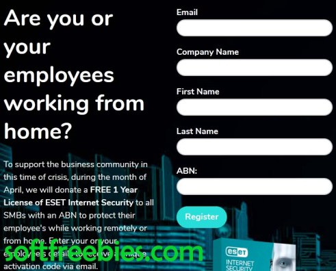 register form ESET internet security