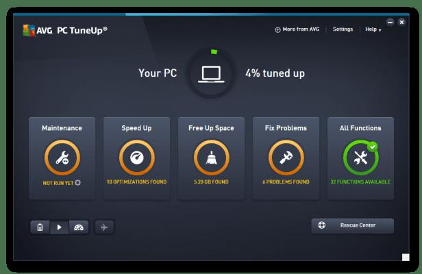 AVG PC TuneUp 2018 16.76 Crack