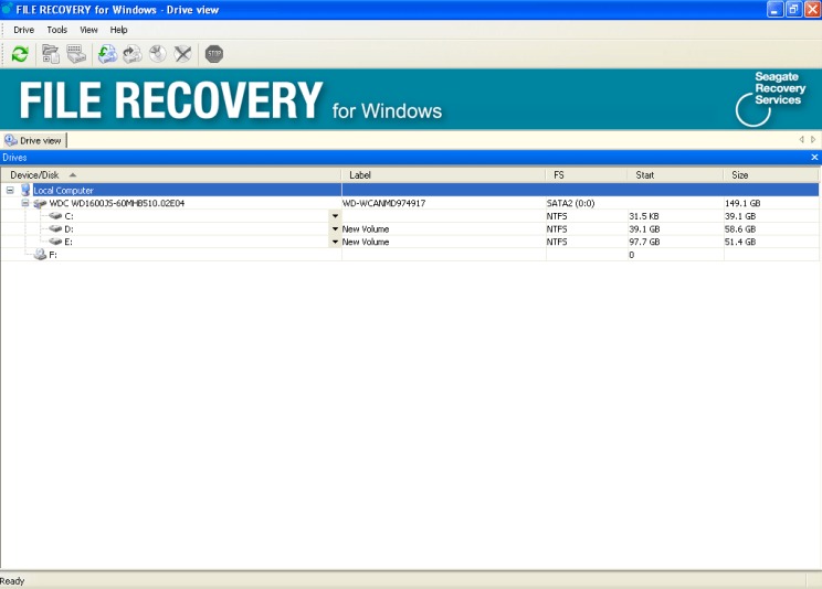 Seagate file recovery software 2015 interface