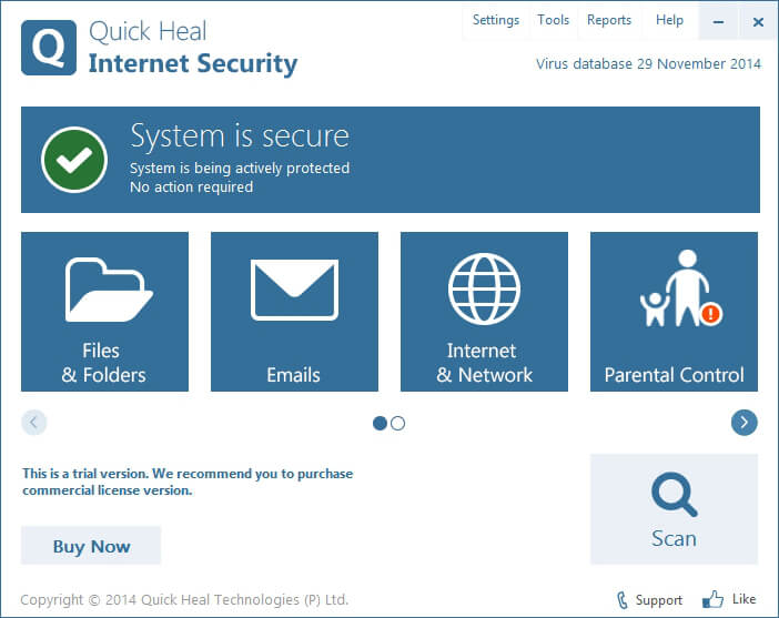 quick heal internet security 2014