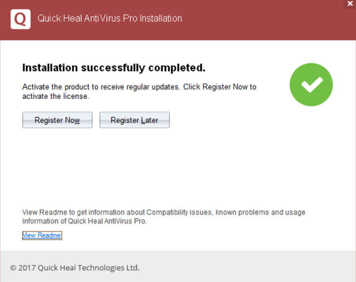 QuickHeal Antivirus Pro 2018 Trail Version  Registration
