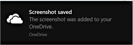 how to take a screenshot on windows - screenshot saved notification