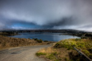 Bodega Bay on a cloudy day