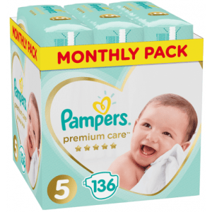 Πάνες Pampers Premium Care Monthly Pack Νο5 (11-16kg) 136τεμ