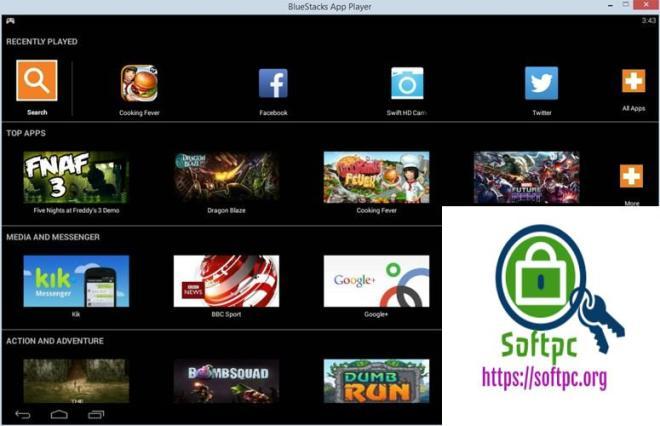 BlueStacks App Player 4.110.0.1087 / 3.56.76.1867 / 2.7.320.850 License With serial key