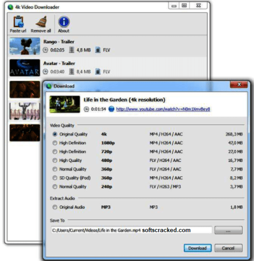 4K Video Downloader Serial keys Full Free