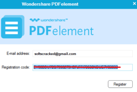 Wondersha Registration Keyre PDFelement