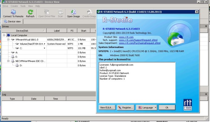 R-Studio Network Edition Crack With Serial key Download