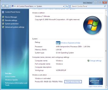 Windows 7 Ultimate Product Key