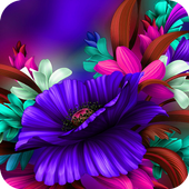 Themes app for S6 Purple Bloom flower