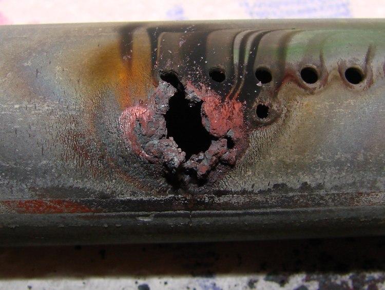 Burned Oven Tube