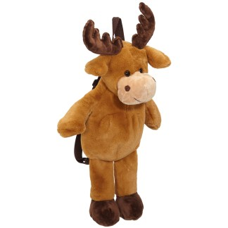 Moose Plush Backpack