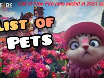 List of Free Fire pets added in 2021