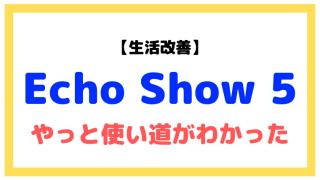 Echo Show 5の使い道がわからなかったけど、やっとわかった