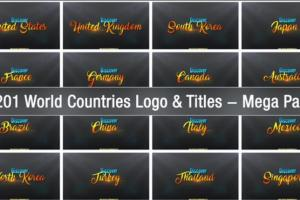 Download 201 World Countries Logo & Titles Mega Pack