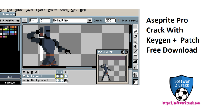 Aseprite Pro Crack With Keygen + Patch Free Download