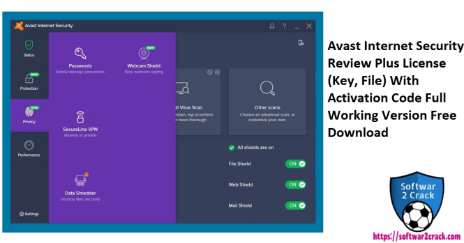 Avast Internet Security Review Plus License (Key, File) With Activation Code Full Working Version Free Download