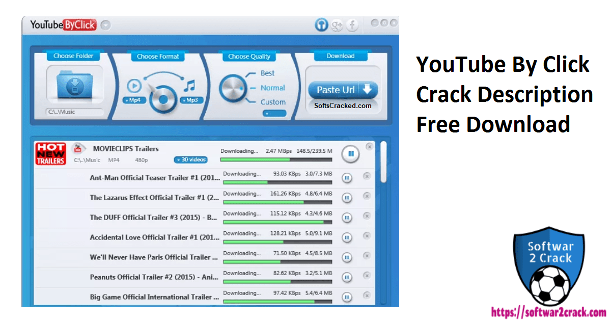 YouTube By Click Crack Description Free Download