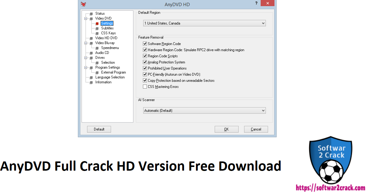 AnyDVD Full Crack HD Version Free Download